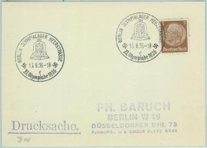 68166 - GERMANY - POSTAL HISTORY - CARD - 16.8.1936 Olympic postmark: BERLIN f