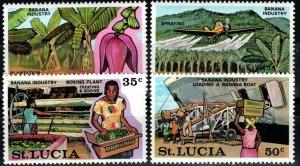 St Lucia #341-4 MNH