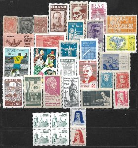 COLLECTION LOT OF 33 BRAZIL MOSTLY MH STAMPS 1884+