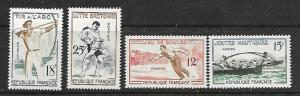 FRANCE 883-886 MINT HINGED SPORTS 1958