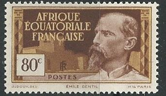 French Equatorial Africa  + Scott # 54 - MH