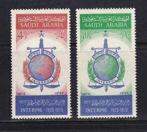 Saudi Arabia 653-654 Set MNH INTERPOL Emblem (C)