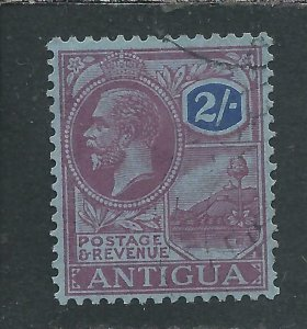 ANTIGUA 1921-29 2s PURPLE & BLUE/BLUE FU SG 77 CAT £65