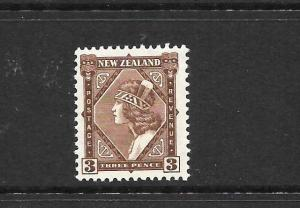 NEW ZEALAND  1935-42  3d  PICTORIAL  MLH  CP L6a