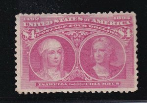 244 VF original gum previously hinged with nice color cv $ 2000 ! see pic !