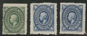 MEXICO Scott 160-164 MH** 1884 short stamp set