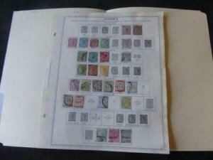 Jamaica 1860-1927 Stamp Collection on Album Pages​