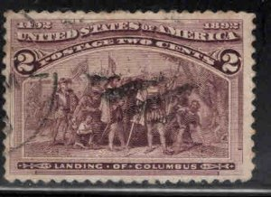 USA Scott 231 Used 1893 Colombian 2c stamp