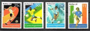 ARGENTINA,1994 FOOTBALL SOCCER WORLD CUP,USA 94 YV 1841-4 MNH