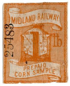 (I.B) Midland Railway : Prepaid Corn Sample 1lb (large format)