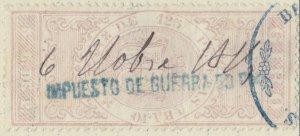 ESPAGNE / SPAIN / ESPAÑA 1875 Fiscal (GIRO) 5c de P. sobrecarga IMPto de GUERRA-