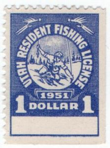 (I.B) US Revenue : Fishing License $1 (Utah)