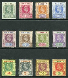 Gambia SG45/56 1902-05 KEVII Wmk Crown CA Set of 12 M/M