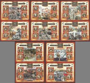 XZ0119 2017 BENIN STALIN & HITLER GREATEST BATTLES OF WORLD WAR II WWII MNH