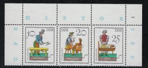 German Democratic Republic Scott # 2312a - 2312c, mint nh, se-tenant