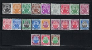 MALAYA JOHORE SCOTT #130-150 1949-55 SULTAN IBRAHIM SET- MINT HINGED