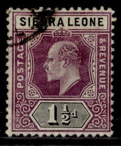 SIERRA LEONE EDVII SG88, 1½d dull purple & black, FINE USED. Cat £19.