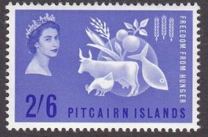 Pitcairn Islands # 35, Freedom from Hunger, NH, 1/2 Cat.