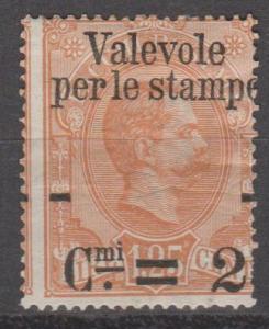 Italy #62 Fine Unused CV $55.00 (B11922)