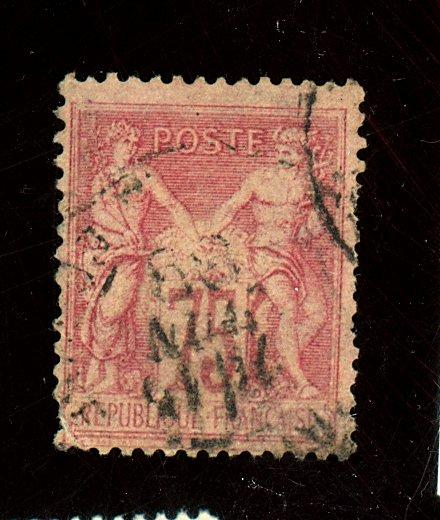 France #83 Used Fine Corner perf crease Cat$110