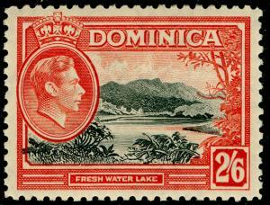 DOMINICA SG107, 2s 6d black & vermilion, M MINT. Cat £23.