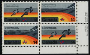 Canada 760a,62a BR Plate Block MNH Commonwealth Games