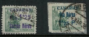 Spain #9LC39, 47 CV $6.75 postage stamps overprinted for use in the Canary Islan