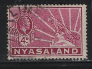 NYASALAND, 43, USED, 1934-35, GEORGE V & LEOPARD