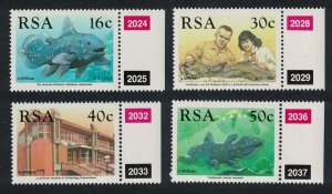 South Africa Coelacanth Fish 4v Control Numbers 1989 MNH SG#677-680