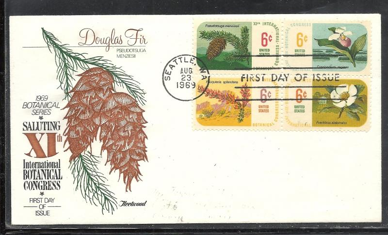 US #1379a Botanical Congress Fleetwood cachet addressed fdc