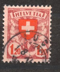Switzerland, 1924, Definitives, 1.2 Fr.Plate Flaw, F in lieu of E, VF + used