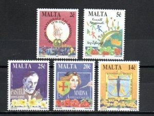 Malta #852-856 MNH