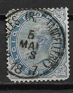 1883 Belgium 47 King Leopold II 25c used.