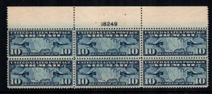 United States C7  MNH  $ 47.50 plate block sn