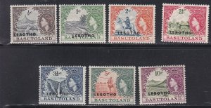 Lesotho # 5-10 & 16,, Basutoland Stamps Overprinted for Lesotho, NH, 1/3 Cat.
