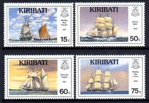 Kiribati 1989 Ships Complete Mint MNH Set SC 511-514
