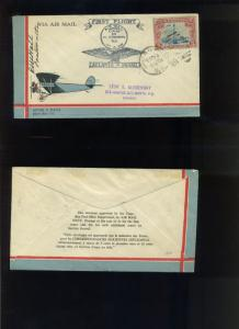 Scott #C11 w/ Colorful/Scarce Cachet 1929 First Flight  Cover (Stock C11-z141)