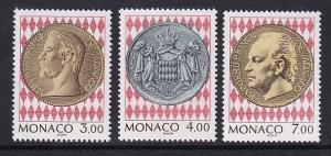 Monaco  #1922-1924    MNH  1994  Currency museum