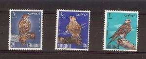 Abu Dhabi, 12-14, Birds / Falcons Singles **MNH**