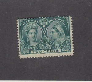 CANADA (MK6709) # 52 F-MNH  2cts 1897 QV DIAMOND JUBILEE / GREEN CAT VALUE $36