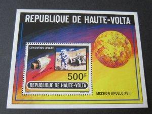Burkina Faso 1973 Sc 294 space set MNH