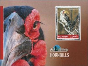 Uganda 2014 Sc 2127 Birds Hornbill CV $6