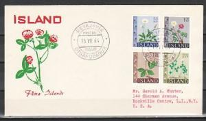 Iceland, Scott cat. 363-366. Various Iceland Flowers issue. First day cover.
