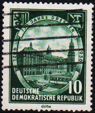 Germany(DDR).1956 10pf S.G.E260 Fine Used