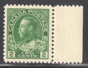 Canada #107 Mint XF NH $150.00 -- Perfect Centering