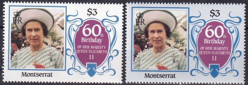 Montserrat #602 Error MNH CV $10.00   (Z1254)