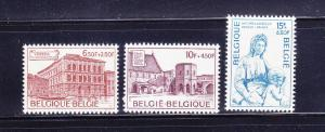 Belgium B923-B925 Set MNH Various (B)