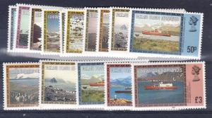 Falkland Islands Scott 1L38-1L50 (1984 date), 1L48a-1L52a Mint NH (Value $37)