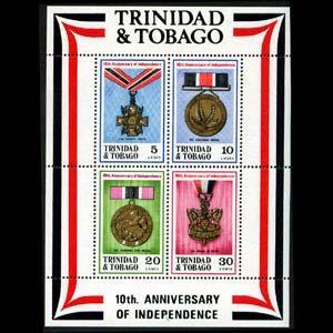 TRINIDAD & TOBACO 1972 - Scott# 222a S/S Medals NH