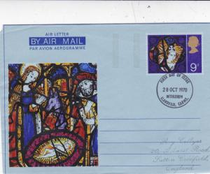 GB 1970 Christmas 9d Air letter First Day of Issue Bethlehem CDS VGC